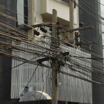 Power and communication lines in Bangkok, Thailand