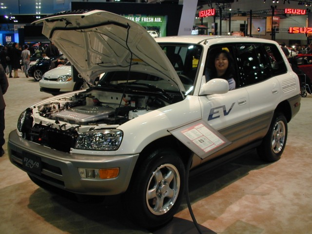 Toyota RAV-4 EV.  Look Ma! No Engine!