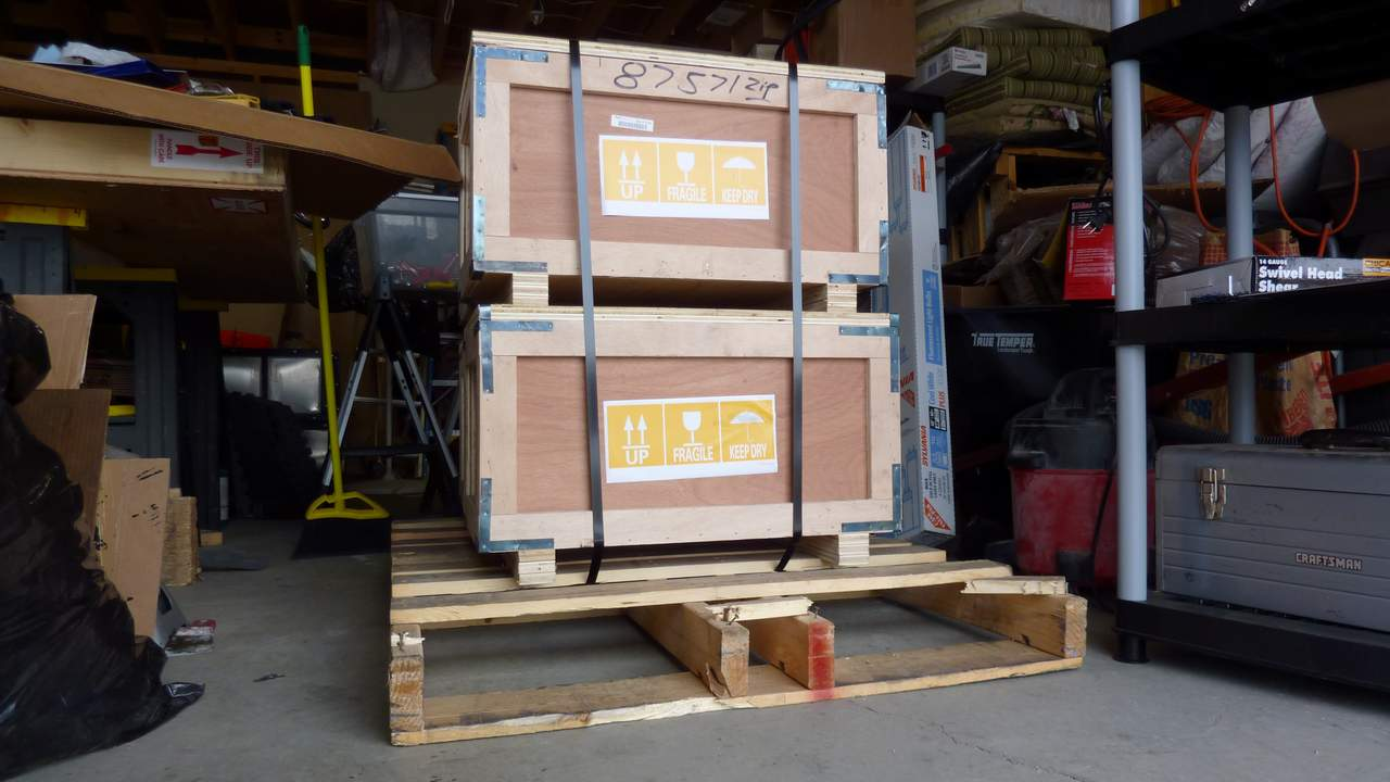Crates of LiFePO4 cells